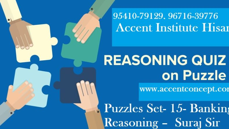 Puzzles Set- 15 – for Banking Reasoning