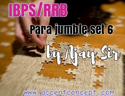 Para Jumble set 6 by Ajay Sir Accent Concept