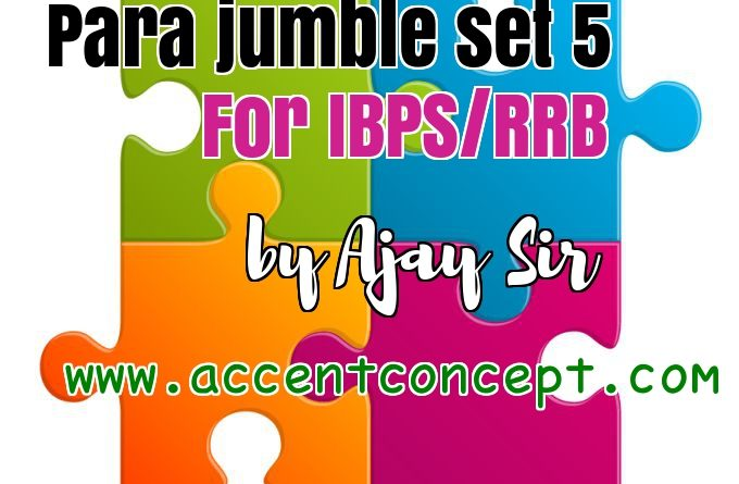 Para Jumble set 5 by Ajay Sir Accent Concept