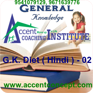 G.K. Diet ( Hindi ) – 02- Accent Institute Hisar