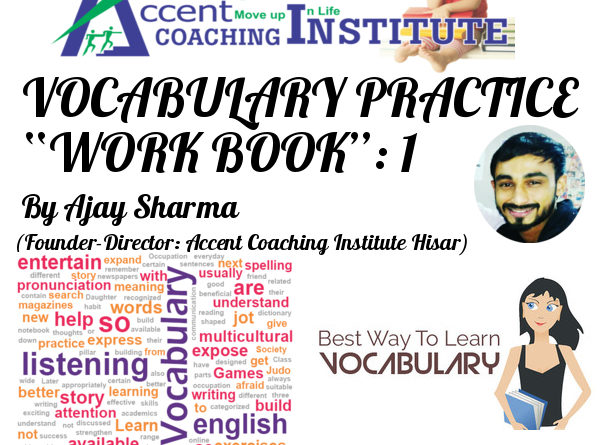 Vocabulary Book 1 by Ajay Sharma Sir