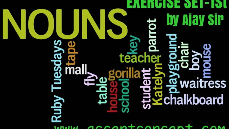 Noun Exercise by Ajay Sharma with Accent concept Set-1st(a)
