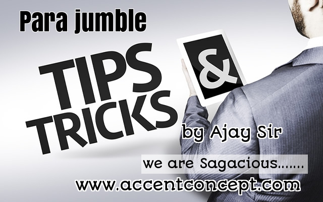 Tips & Tricks to Solve Parajumbles by Ajay Sir