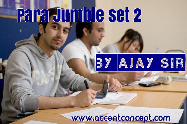 Para jumbles Set 2 – By Ajay Sir
