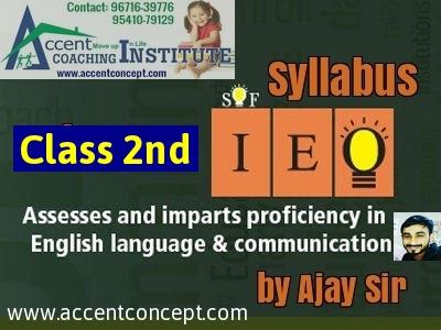 Olympiad Syllabus for English Class 2nd-by Ajay Sir