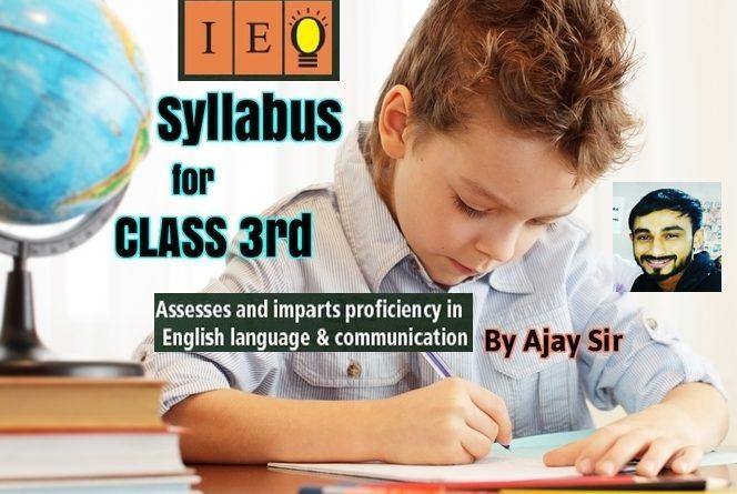 Olympiad Syllabus for English Class 3rd-by Ajay Sir