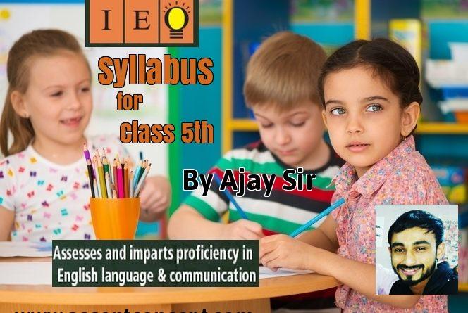 Syllabus of English (Olympiad) Class 5th-by Ajay Sir