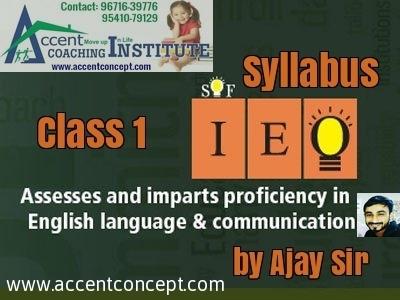 Olympiad Syllabus for English-Class 1st
