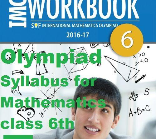 Olympiad Syllabus for Mathematics class 6th