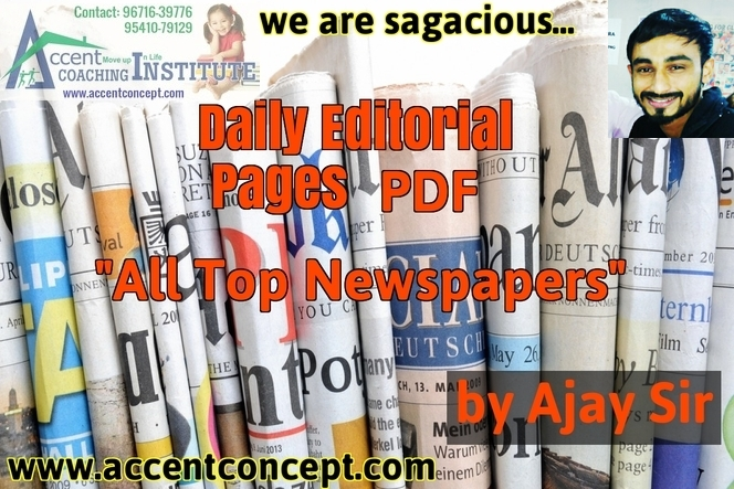 Daily Editorial Pages From All Newspapers PDF by Ajay Sir 04.01.2017