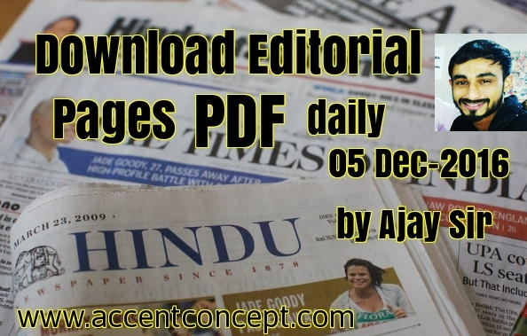 download daily pdf The Hindu Editorial page Accent Hisar 05