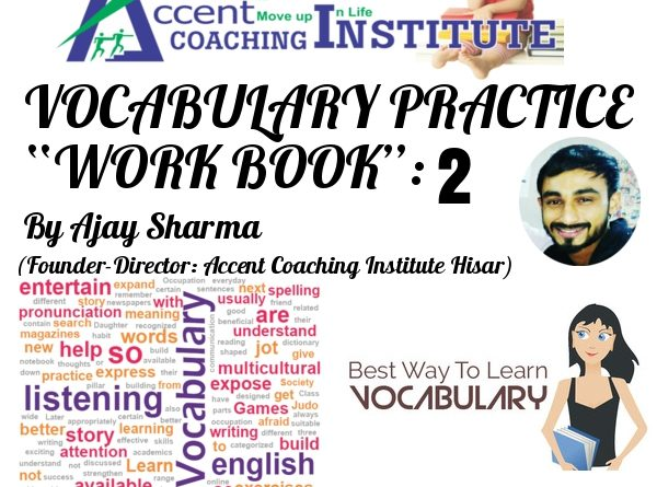 English Vocabulary Booklet 2 by Ajay Sir