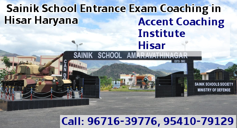 Sainik School Entrance Exam Coaching in Hisar